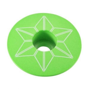 SUPACAZ STEM TOP CAPZ NEON GREEN - Click for more info