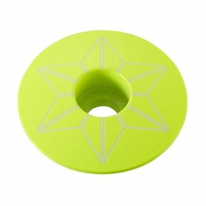 SUPACAZ STEM TOP CAPZ NEON YELLOW - Click for more info