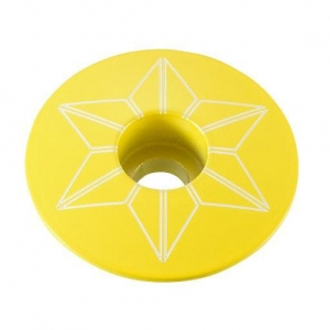 SUPACAZ STEM TOP CAPZ TDF YELLOW - Click for more info