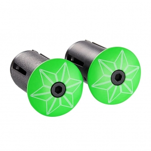 SUPACAZ BAR TAPE SUAVE GLOW IN THE DARK WITH GREEN PLUGS