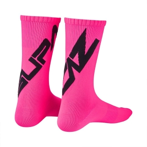 SUPACAZ TWISTED SOCKS PINK / BLACK - Click for more info