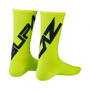 SUPACAZ TWISTED SOCKS NEON YELLOW / BLACK - Click for more info