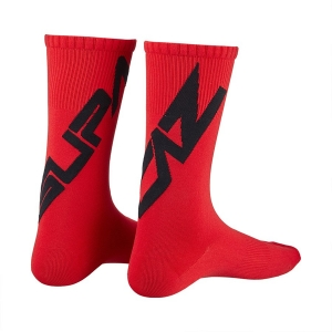 SUPACAZ TWISTED SOCKS RED / BLACK - Click for more info