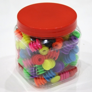 SUPACAZ BAR PLUGS PLASTIC ENDZ CONTAINER WITH 60 PAIRS / 8 COLOURS - Click for more info